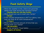 food safety bingo37