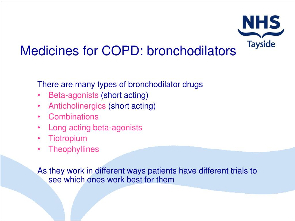 Medicines for COPD: bronchodilators