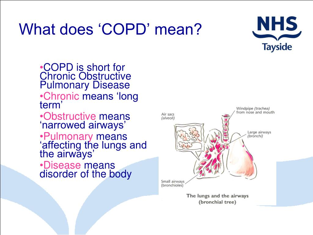 What does 'COPD' mean?