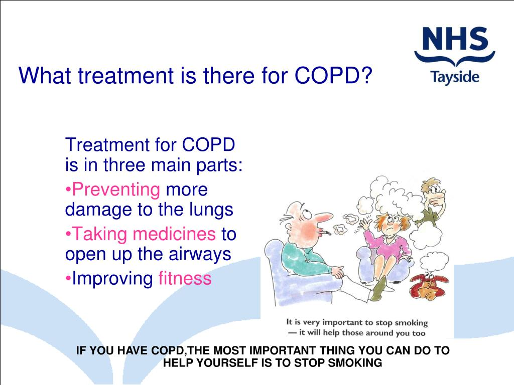 What treatment is there for COPD?