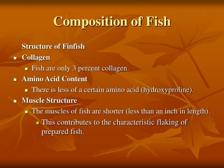 Composition of Fish