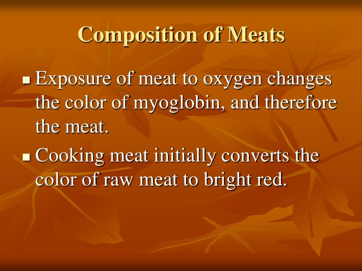 Composition of Meats