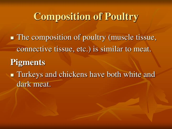 Composition of Poultry