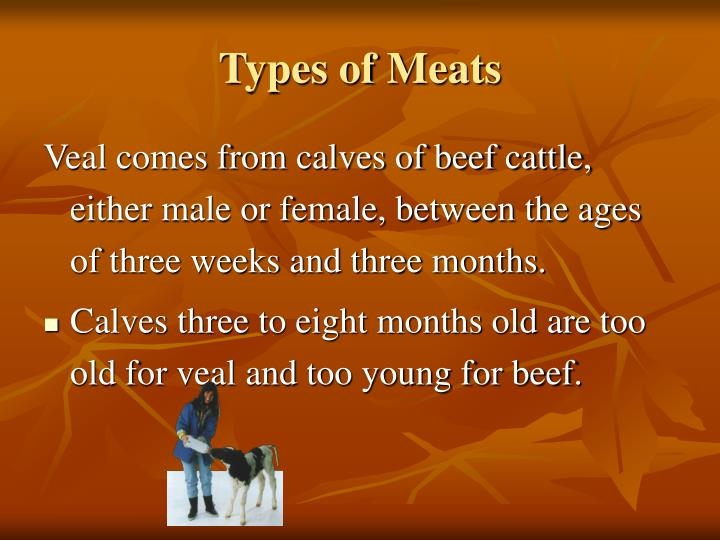 Types of meats1