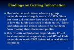 findings on getting information12