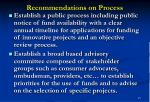 recommendations on process21