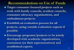 recommendations on use of funds26