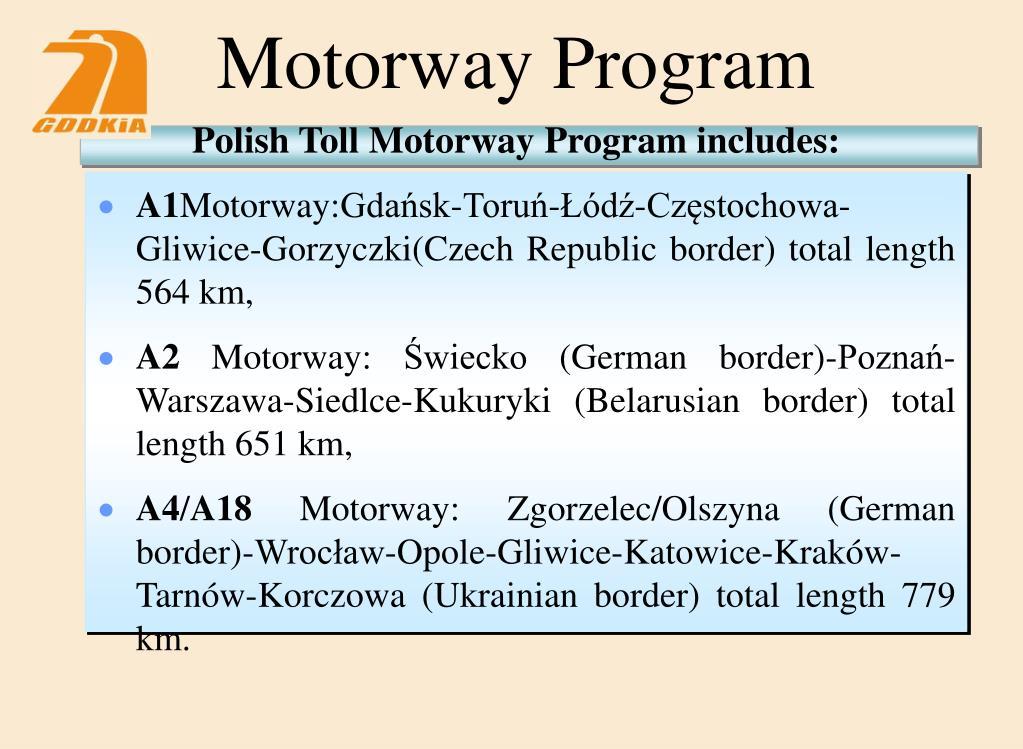 Motorway Program