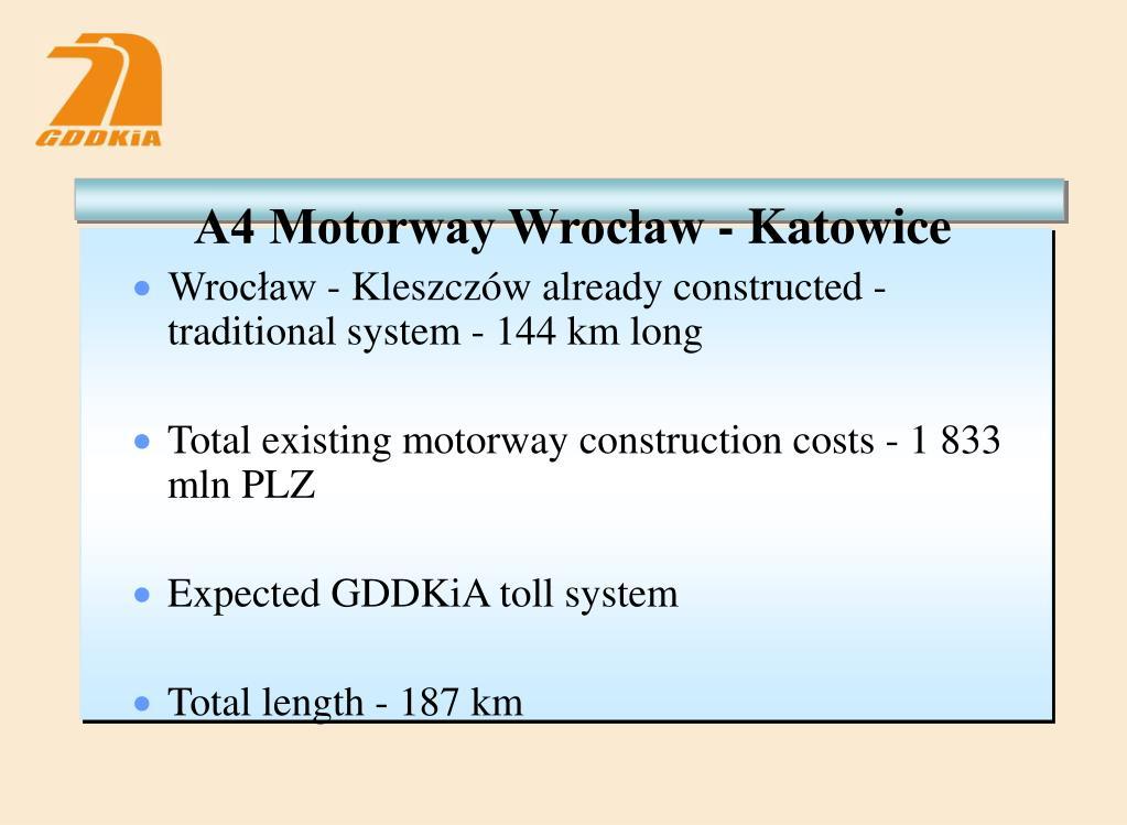 A4 Motorway Wrocław - Katowice