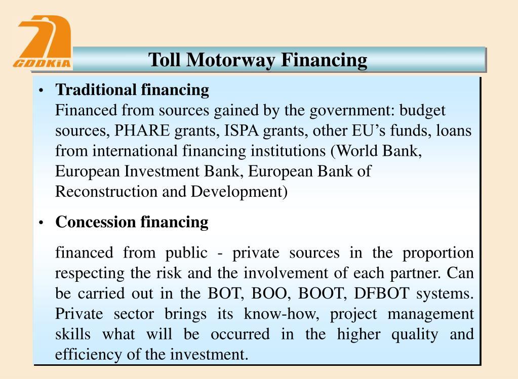 Toll Motorway Financing