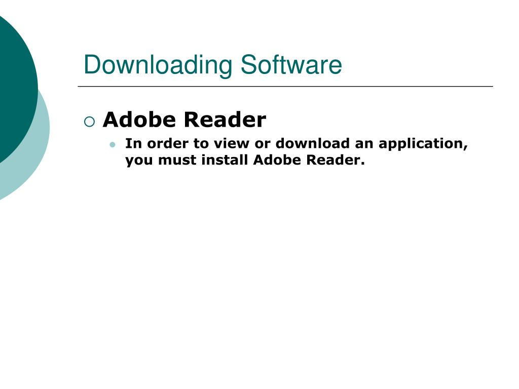 Downloading Software