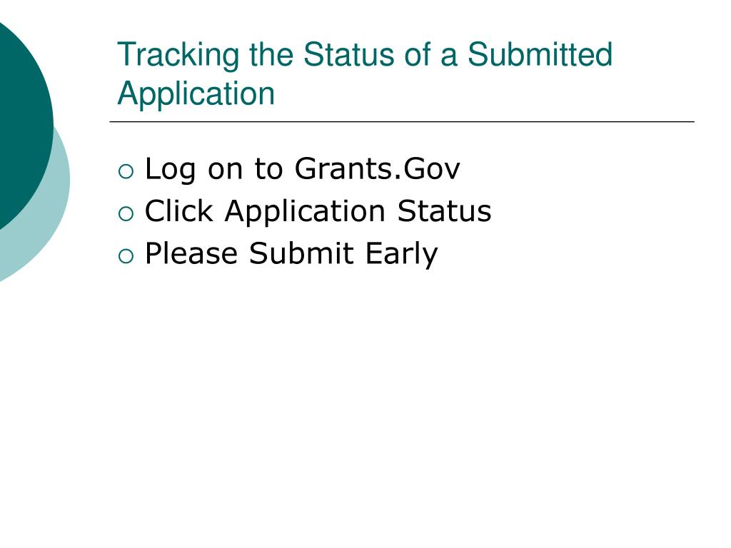 Tracking the Status of a Submitted Application