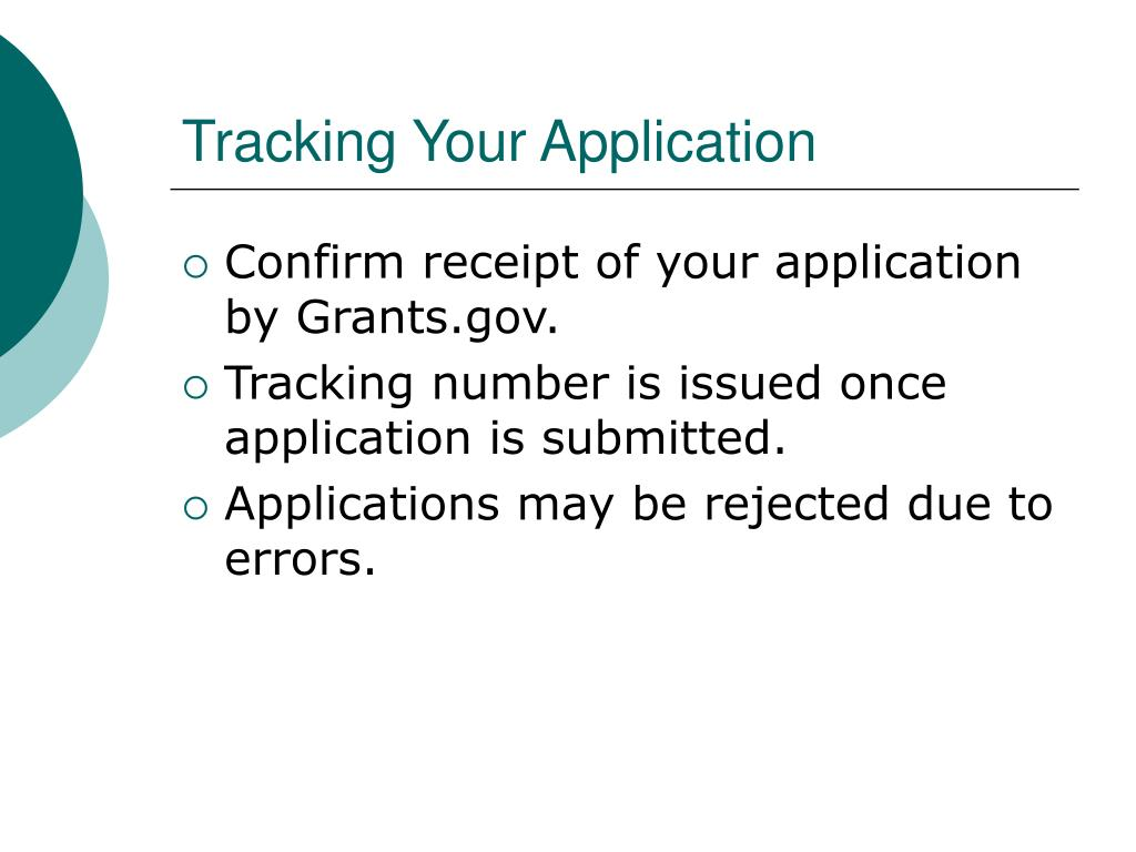 Tracking Your Application