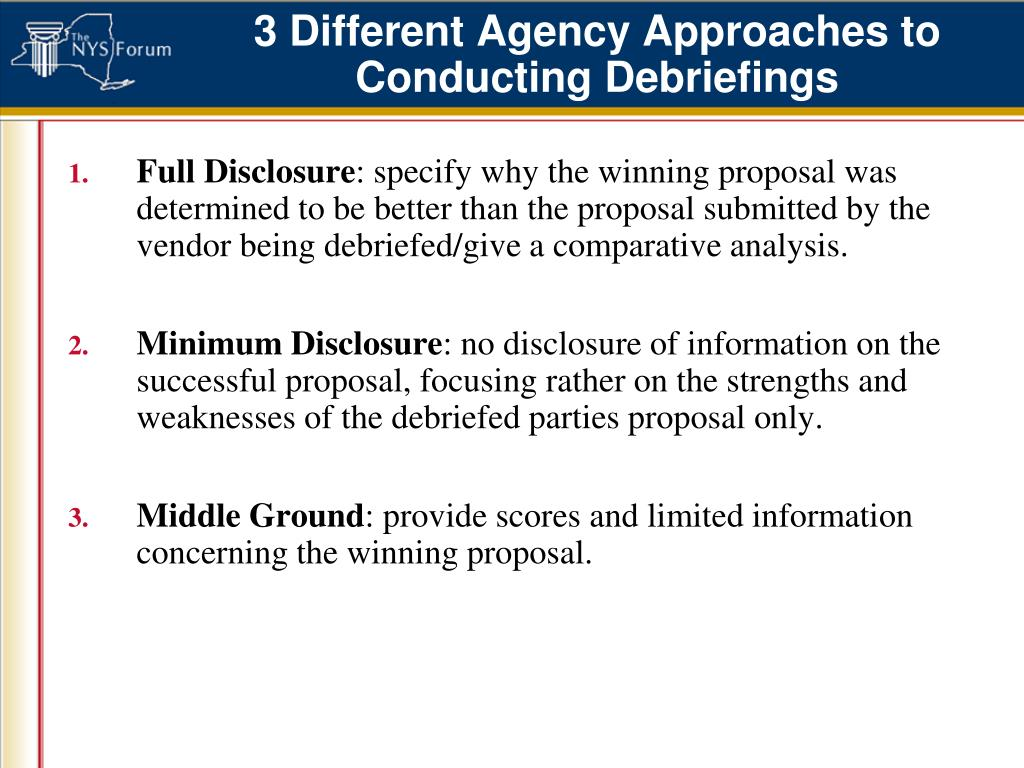 3 Different Agency Approaches to Conducting Debriefings