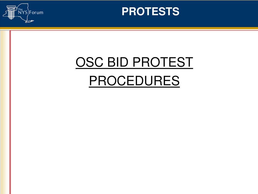 OSC BID PROTEST