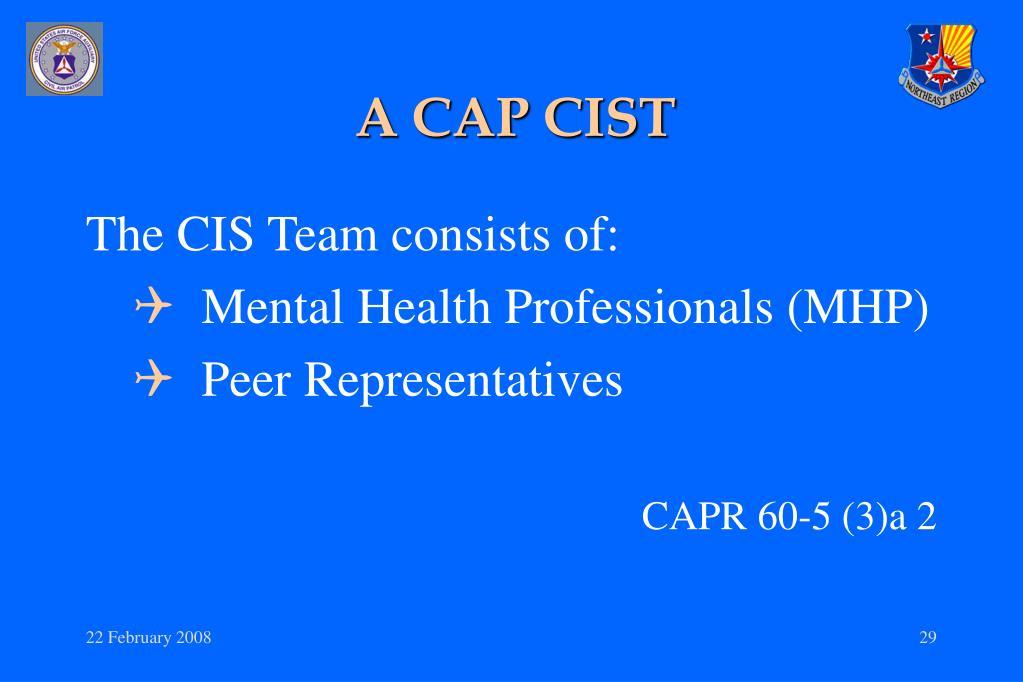 A CAP CIST