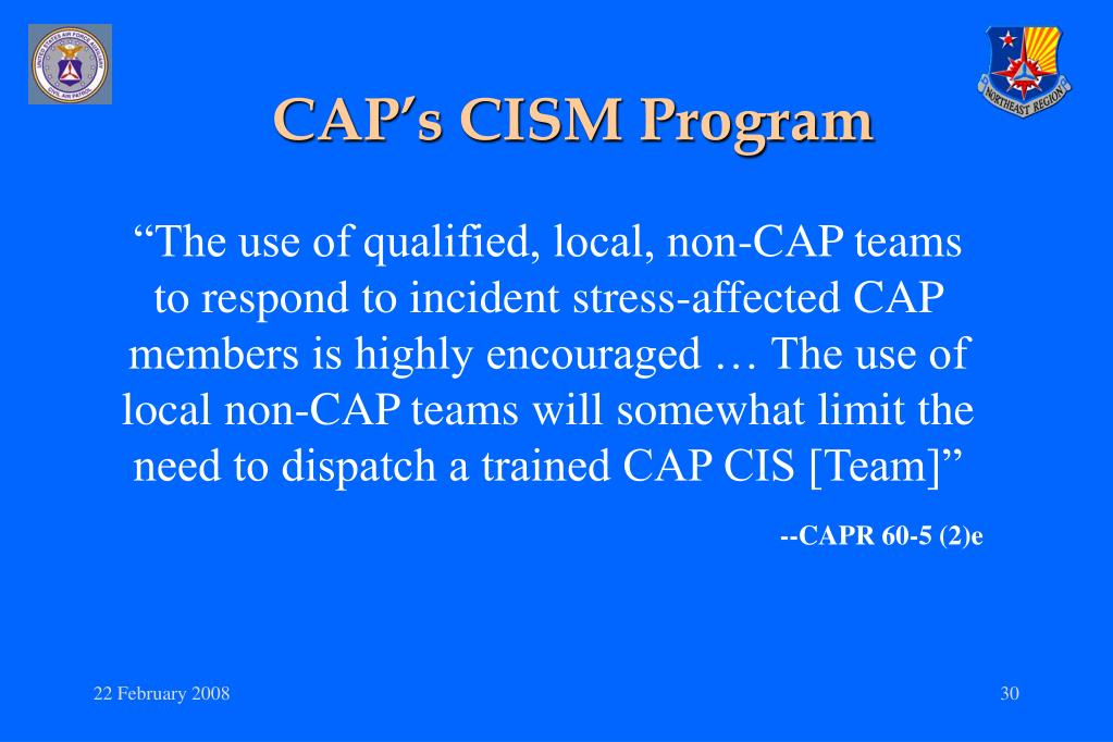 CAP's CISM Program