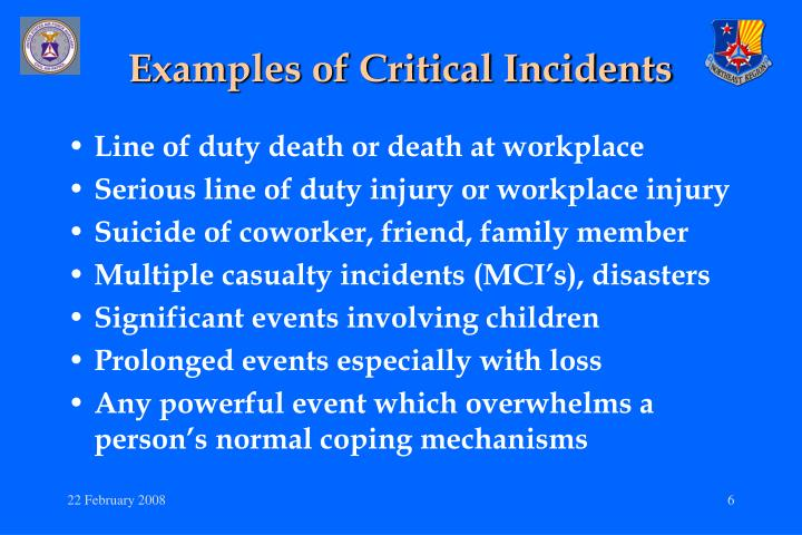german culture critical incident Critical incident stress management (cism) is the selection and implementation of the most appropriate crisis intervention tactics to best respond to the needs of the situation at hand cism has multiple components that can be used before, during, and after a crisis.
