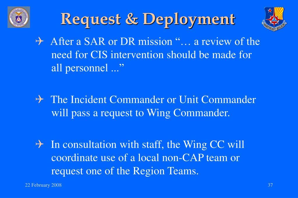 Request & Deployment