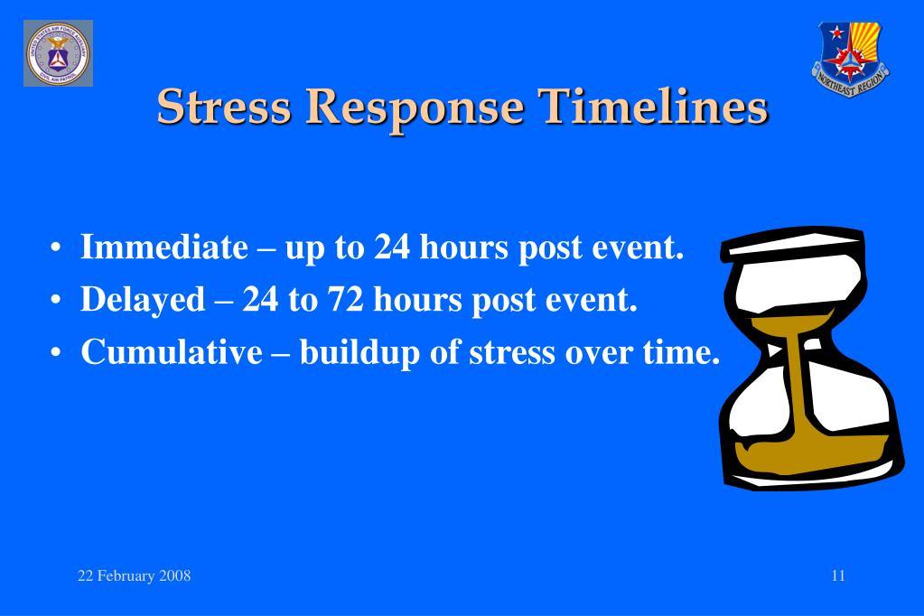 Stress Response Timelines