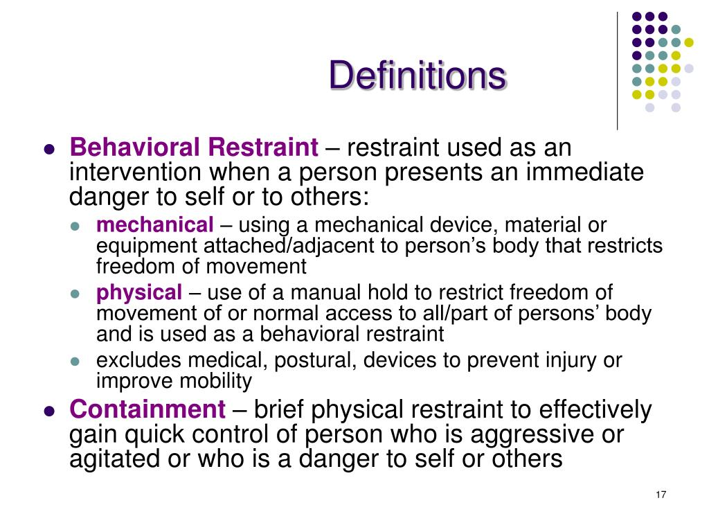 methods intervention used challenging behaviour restraint
