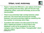 urban rural motorway