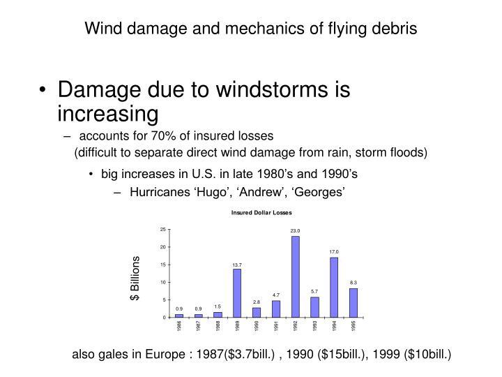 Wind damage and mechanics of flying debris2