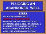 plugging an abandoned well