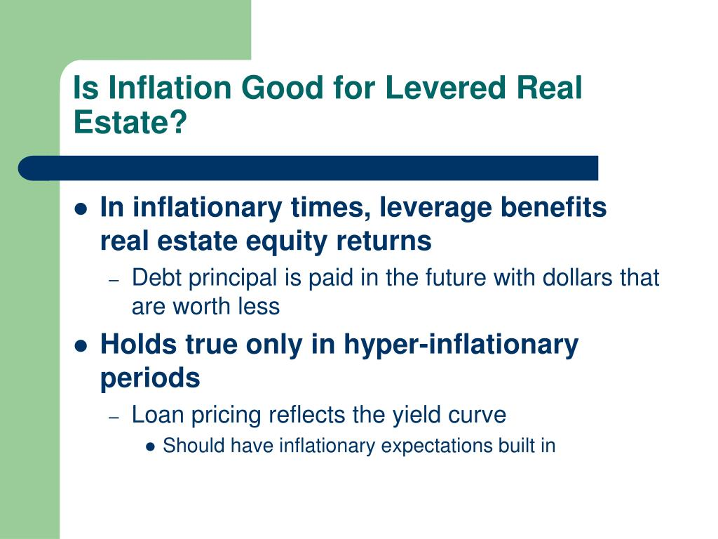 Is Inflation Good for Levered Real Estate?