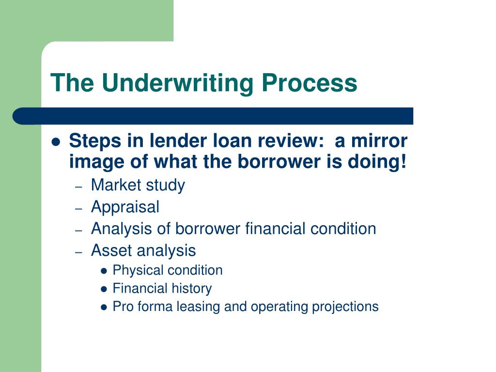 The Underwriting Process