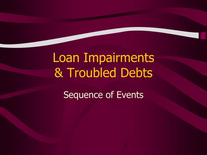 Loan impairments troubled debts