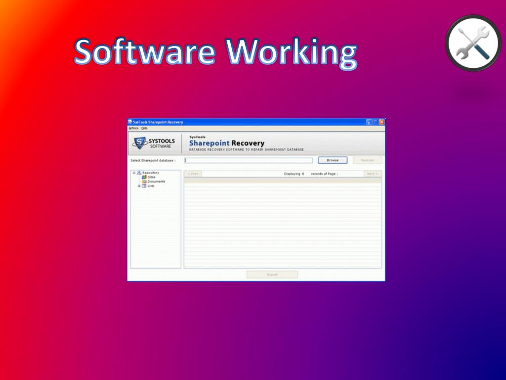 Software Working