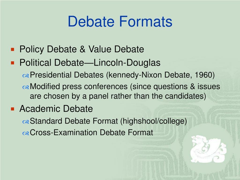 Ppt Debate I Basics Amp Formats Powerpoint Presentation