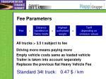 fee parameters