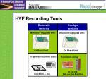 hvf recording tools