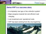 swiss hvf is a success story