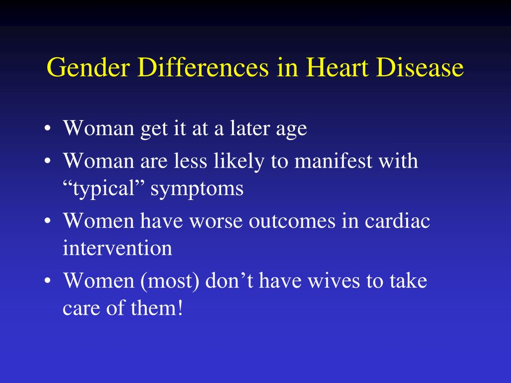 Gender Differences in Heart Disease