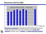 revenues until oct 2005
