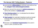 the german hgv tolling system features