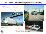 toll collect enforcement stationary mobile