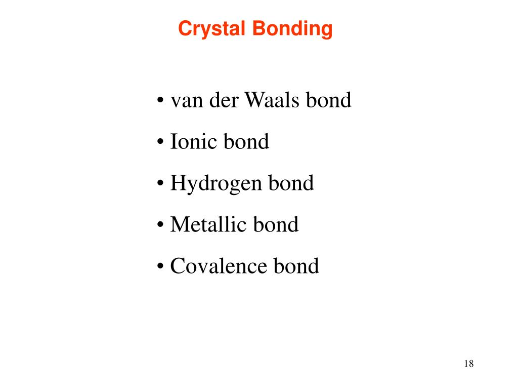 Crystal Bonding