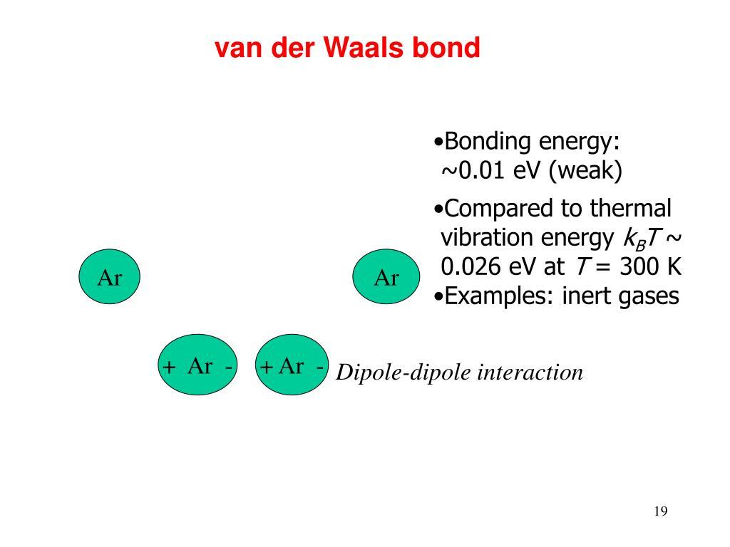 van der Waals bond