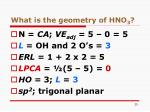 what is the geometry of hno 3