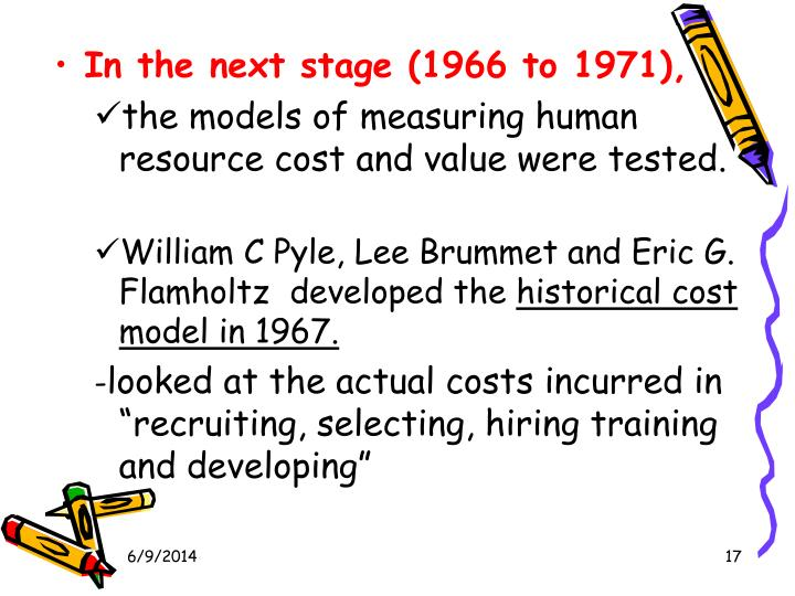 flamholtz model Human resource accounting is an attempt to identify and report investment made in resources of the organization that are not presently accounted for under conventional accounting practice (woddruff.