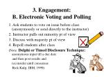 3 engagement b electronic voting and polling