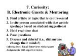 7 curiosity b electronic guests mentoring