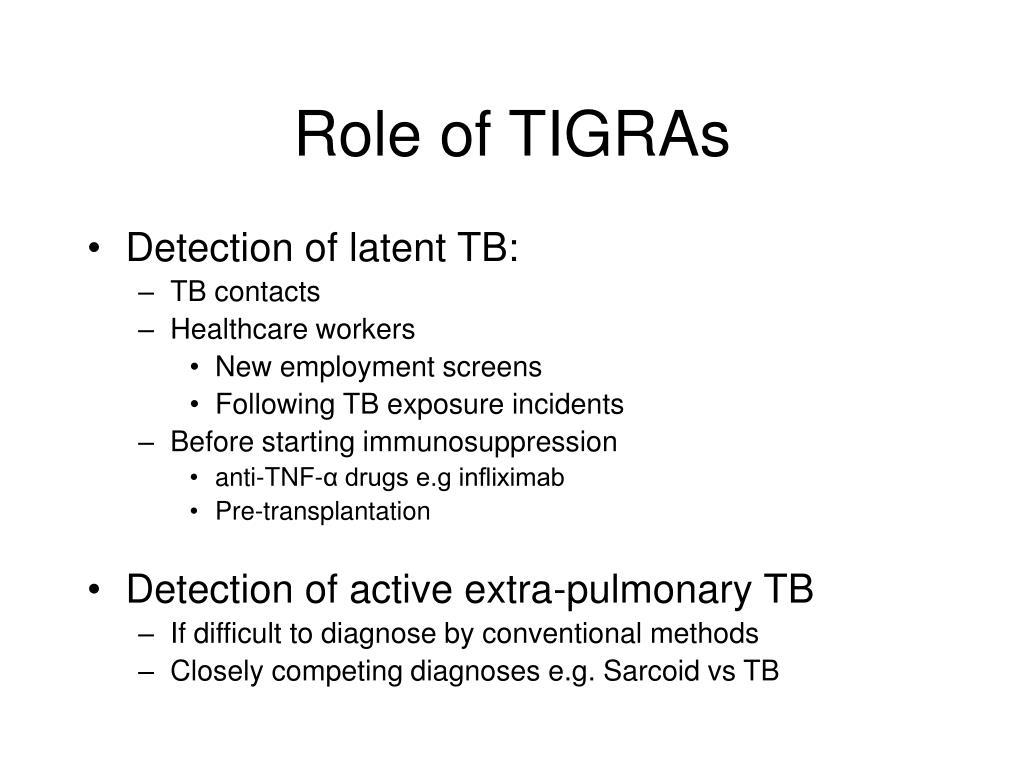 Role of TIGRAs