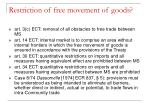 restriction of free movement of goods