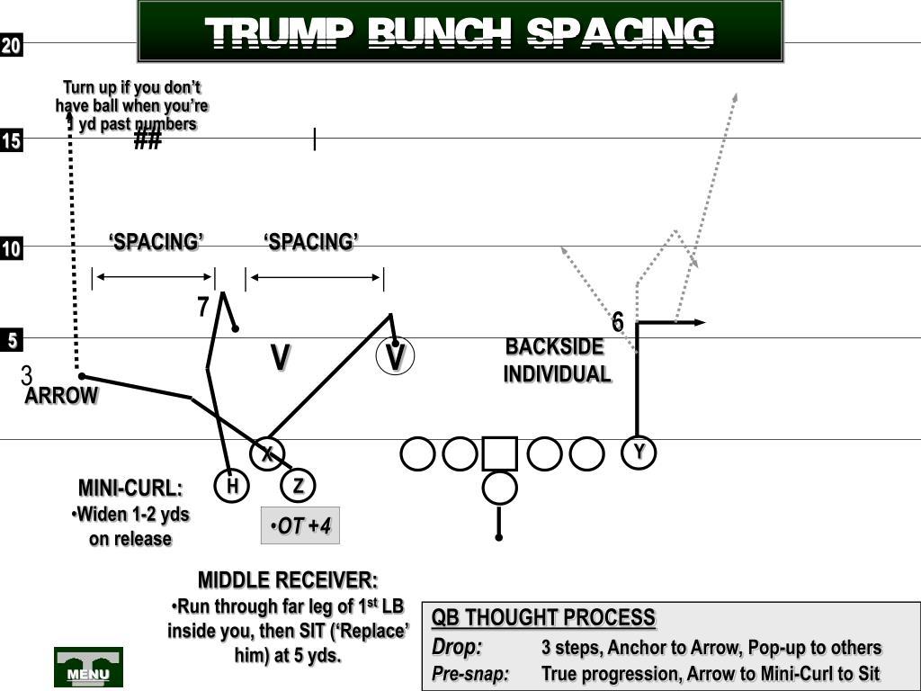 TRUMP BUNCH SPACING