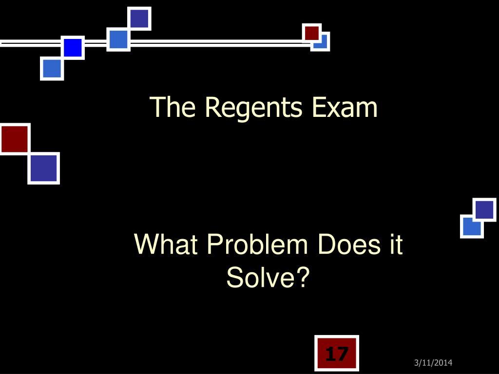 The Regents Exam